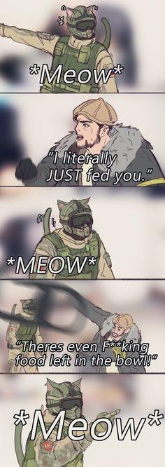 Rainbow Six Siege Anime, Rainbow Six Siege Memes, Rainbow 6 Seige, Tom Clancy's Rainbow Six, Funny Gaming Memes, Gamer Humor, Funny Games, Really Funny Memes, Stupid Funny Memes
