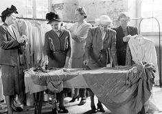 Women ironing gorseddogion robes, Dolgellau, 1949.