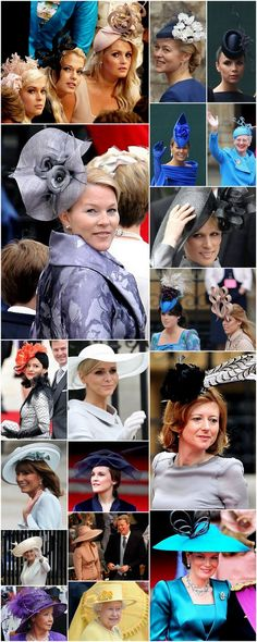 Hats from Prince William and Princess Catherine's wedding 2011 - some good and nasty here