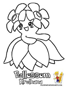 pokemon coloring | Pokemon Bellossom PrintOut at coloring-pages-book-for-kids-boys.com