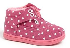 Oh.My.Gosh - these are ADORABLE!  Polka dot TOMS for babies! http://rstyle.me/n/fahwvnyg6