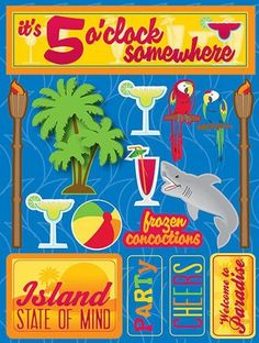 Reminisce Tropical Island Stickers