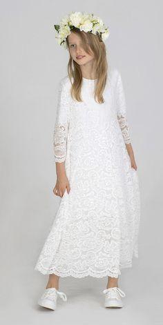 Girls Dresses, Flower Girl Dresses, Kids And Parenting, Lace Skirt, White Dress, Wedding Dresses, Skirts, Fashion, Dresses Of Girls