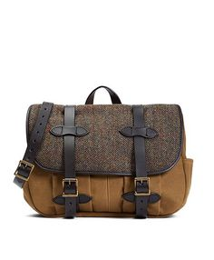 Exclusive Filson® Fabric and Leather Messenger Bag - Brooks Brothers