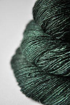Lost in the coniferous forest  Tussah Silk Lace Yarn by DyeForYarn