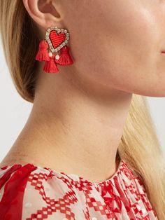Pompon Heart clip-on earrings | Shourouk | MATCHESFASHION.COM UK
