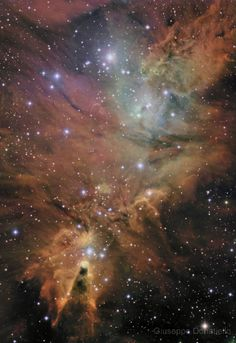 NGC 2264 - Cone & Fox Nebulae [DSS- Spitzer]  Taken by Giuseppe Donatiello on November 2, 2014 @ Oria (Brindisi) - Italy