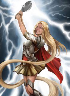 Princess Avengers: THOR by ThinkingMakesItSo on deviantART