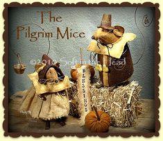 The Pilgrim Mice E-Pattern $10.00