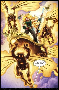 Girl Genius; Monday March 25, 2013. Agatha Heterodyne is my hero and she is magnificent.