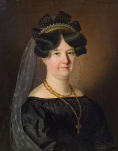 Anton Einsle: Porträt einer Dame, 1829