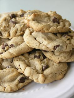 Absolutely Phenomenal Peanut Butter Chocolate Chip Cookies - girl. Inspired. I just made these. 61 cookies is not enough!