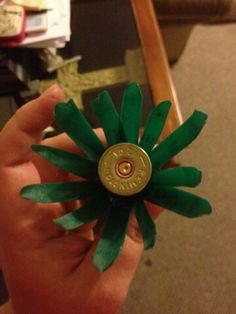 Shotgun shell flowers! Sisters idea and creation! Love it! <3