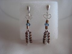 'Sandy Heart' earrings, I do love the dangles!