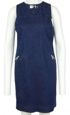 Jeans Sleeveless dress with Pockets by Fay