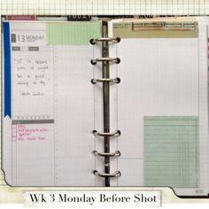Week 3 Monday Before Shot #filofax #daytimer #franklin covey #diyfish #lifemapping #planner #organization #agenda