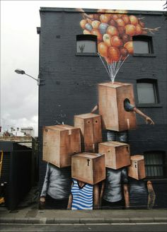 Fantastical, Large-Scale Street Murals That Seem To Spill Into Reality