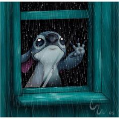 Poor Stitch ... I understand the feeling, it is raining here too.