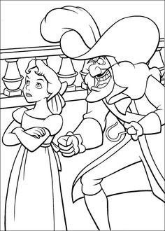 Dibujos para Colorear. Dibujos para Pintar. Dibujos para imprimir y colorear online. Peter Pan 36