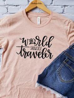 Items similar to Disney Shirts/Disney Family Shirts/World Showcase Traveler Shirt/Disney Shirts for Women/Epcot Shirt/Disney/Disney World/Epcot on Etsy Disney Tees, Disney Shirts For Family, Shirts For Teens, Disney Family, Family Shirts, T Shirts For Women, Disney Diy, Walt Disney, Disney Apparel