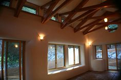 Village Community Building-interior shot by Straw Bale, via Flickr