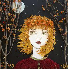 Брук и Вики — творческий семейный дуэт дочери и мамы, черпающий бесконечное вдохновение у природы. Мастерицы занимаются росписью по ткани, делают ожерелья, подарочные упаковки, шьют гобеленовые наволочки для подушек. Но, думаю, большинство поклонников художницы привлекли флористическими портретами, которые создаются из цветов, лепестков, листьев, веточек, почек, стебельков, семян, шишек, собранных во время прогулок.