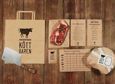 #Identity for restaurant Köttbaren in Stockholm. Design by Lobby Design. Who's having meat for lunch #packaging PD