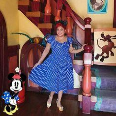 Minnie Mouse Disney Bound #disneybound #minniemousedisneybound #minniemousebound #disneystyle dress @uniquevintage || shoes @baitfootwear