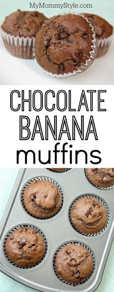 Chocolate banana muffins -- easy to make and so yummy!