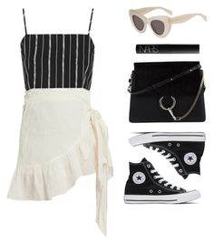 """""""You can never go wrong with B & W"""" by baludna ❤ liked on Polyvore featuring Étoile Isabel Marant, Topshop, Converse, Chloé and NARS Cosmetics"""