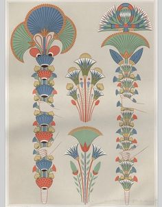 Fans and flowers in Egyptian art