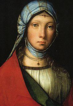 La Petite Bohémienne (Vers 1505), Boccaccio Boccaccino l'Ancien | Exposition Bohèmes - Grand Palais, Paris