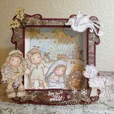 Magnolia Nativity Collection Shadow Box