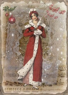 jane Austen christmas illustrations - Google Search