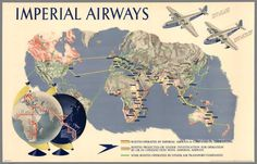 Maps for Imperial Airways by Lazlo Moholy-Nagy and James Gardner, 1937