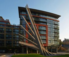 Merchant Square Footbridge design by Knight Architects