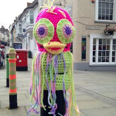 There's something (jelly)fishy going on in #haverfordwest today... #yarnbomb #pembs #pembrokeshire
