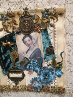 A fabric collage-see more pics on my blog-Counting My Blessings.