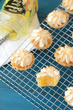 Mini Lemon Meringue Pies in 10 minutes! Been looking for a recipe for forever! Lemon meringue is my absolute favorite!