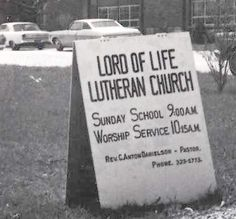 Lord of Life Lutheran Church Sign