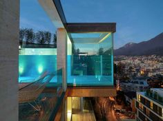Cantilevered glass swimming pool, anyone?
