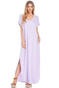 Maxi Dress w/ Side Pockets and Side Slits
