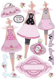 Tilda paper dolls