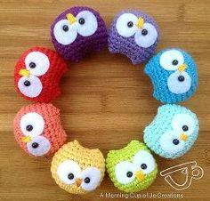 1500 Free Amigurumi Patterns: Baby Owl Ornaments Amigurumi Crochet Pattern Descubre más de los bebés en somosmamas.