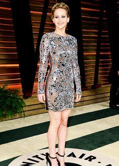 Stunning! Jennifer always wins with her dresses. #vanityfair #oscars
