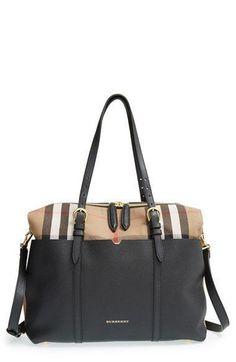 2d5caa95d82e Burberry  Mason - House Check  Diaper Bag