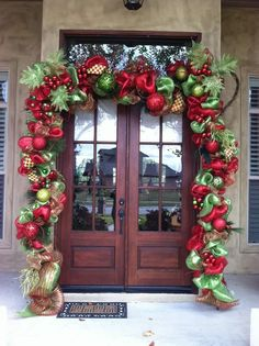 Give your front porch a festive makeover this holiday season with one of these hundred Christmas porch decorating ideas. These stunning porch Christmas displays are sure to impress your guests and improve your curb appeal Front Door Christmas Decorations, Christmas Front Doors, Christmas Porch, Christmas Holidays, Christmas Wreaths, Christmas Crafts, Christmas Displays, Outdoor Decorations, Outdoor Christmas Garland