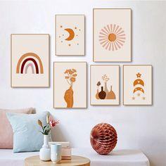 Gallery Wall Bedroom, Bohemian Wall Art, Art Painting Gallery, Diy Canvas Art, Living Room Art, Creations, Kitchen Canvas, Ramadan, Ideas