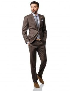 BALDESSARINI look // collection spring/summer 2015 // Look: SMART GENT BROWN // Shoes: Derby sued // leatherbelt with a silver pin buckle // pochette made of cloth // trousers and suit made of virgin wool // Men's fashion // purepersonality https://www.baldessarini.com/shop/looks/