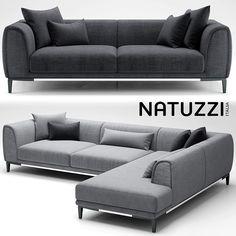 3D Sofa Natuzzi Trevi Model - 3D Model